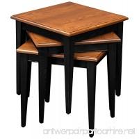 Leick Stacking Table Set  Black and Medium Oak - B003UE449G