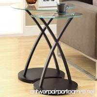 Monarch Specialties Cappuccino Bentwood Nesting Table Set 2-Piece - B008V6RK3K