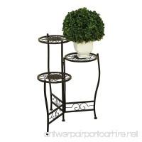 Nesting Plant Stand 3 Tier Iron Metal Black Flower Home Decor Indoor Outdoor Furniture NEW - B01MRNBBV1