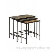 Slate Topped 3 Piece Nesting Tables - B075FFM3QW