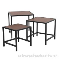 SONGMICS Nesting Coffee Table 3-Piece End Side Table for Living Room Small Space Easy Assembly ULNT03BZ - B07BJ8SKNR