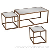 Southern Enterprises Nested Cocktail and End Table Set of 3  Antique Bronze Finish - B00G13A0XC