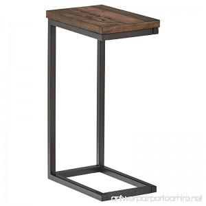 Stone & Beam Larson Industrial Wood & Metal L-Shaped End Table 16 W Walnut - B075ZBW1S4