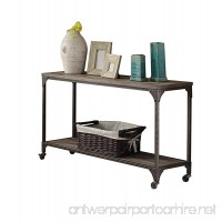 Acme Furniture 81449 Gorden Sofa Table One Size Weathered Oak & Antique Silver - B01N00T3YU