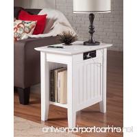 Atlantic Furniture AH13312 Nantucket Side Table Rubberwood  White - B072BDHPGH