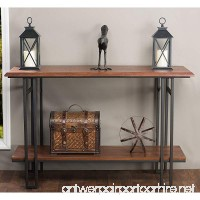 Baxton Studio Newcastle Wood and Metal Console Table  Brown - B00UFG7R1Y