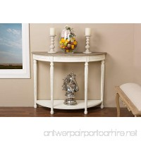 Baxton Studio Vologne Traditional Wood French Console Table  White - B00VMIERVC
