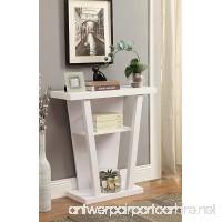 Contemporary 3-tier Console Sofa Table Shelf  White - B016UCKUHY