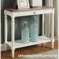 Convenience Concepts French Country Hallway Table  Driftwood/White - B073JBN3WV