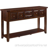 Crosley Furniture Sienna Entryway Table - Rustic Mahogany - B06Y1GRJBK