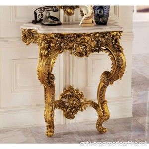 Design Toscano Madame Antoinette Wall Console Table in Faux Antique Gold - B003M0DWZK