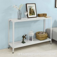 Haotian FSB08-W Console Sofa Table Hall Table with One Shelf W48.82 x D12.60 x H32.28in - B075ZT3Z6B