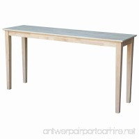 International Concepts Unfinished Shaker Extended Length Console Table - B00J5BA71M