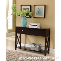 Kings Brand Cherry Finish Wood Entryway Console Sofa Occasional Table With Drawers - B01IE7YFPQ