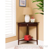 Kings Brand Walnut Finish Wood Corner Sofa Accent Table with Drawer - B014I3L4AE