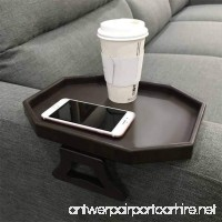 Sofa Arm Clip Table Armrest Tray Table Drinks/Remote Control/Snacks Holder - B07DNPT1HB