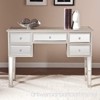 Southern Enterprises Mirage Mirrored Console Table in Silver - B00T3TKC6Q