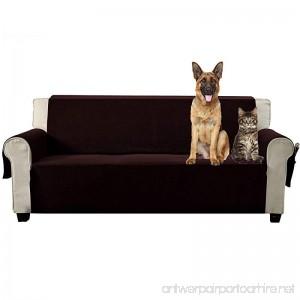 Aidear Anti-Slip Sofa Slipcovers Jacquard Fabric Pet Dog Couch Covers Protectors (Sofa: Oversized Dark Brown) - B074SXZSTW