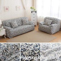 ANJUREN 1-Piece Printed Stretch Slipcover Soft Furniture Shield Protector Covers Anti-wrinkle Slipcovers For Chair Loveseat Sofa Polyester Spandex Fabric Without Pillow (Love seat Ring) - B01MSJBXKY