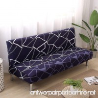 Armless Sofa Bed Cover Printed Elastic Sofa Slipcover Protector Folding Couch Shield - B07FDG6SJS