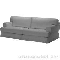 Durabale Dense Cotton Three Seat Hovas Sofa Cover Replacement Is Custom Made for Ikea Hovas 3 Seater Slipcover Only (Hovas Gray) - B07CKFWDPQ