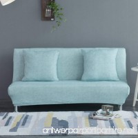Elastic Fabric Stretch Couch Slipcover Plush Sofa Slipcover Armchair Cover Suede Full-Cover Fitted Universal Elastic Sofa Armless Cover Folding Bed Easy Fit Cover-F Chair - B07C9S4HRM