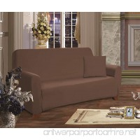 Elegant Comfort Luxury Furniture Jersey STRETCH SLIPCOVER  Sofa Chocolate - B00JKZQ1F4