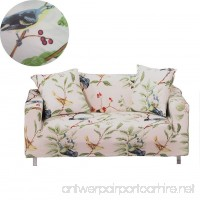 ENZER Stretch Sofa Slipcover Flower Bird Pattern Chari Loveseat Couch Cover Elastic Fabric Kids Pets Protector (1 Seater  Bird Pattern) - B071JHM21Z