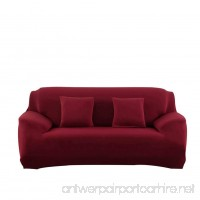 FORCHEER Sofa Covers for Leather Sofa Polyester Slip Resistant Stretch Couch Slipcover Furniture Protector Cover (Big Sofa Wine Red) - B072R2QP47