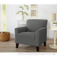 Home Fashion Designs Form Fit  Slip Resistant  Stylish Furniture Cover/Protector Featuring Lightweight Stretch Twill Fabric. Brenna Collection Strapless Slipcover. By (Chair  Charcoal - Solid) - B079Q8WNFZ