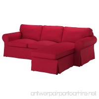 IKEA Original Ektorp Cover for Sofa with Chaise 3-Seat Sectional (Cover Only - Various Colours) (Nordvalla Red) - B079KB3X36