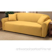 Madison Stretch Jersey Sofa Slipcover  Solid  Yellow - B004MM9XR8