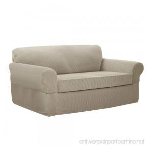 MAYTEX Connor Stretch 2-Piece Sofa Furniture Cover/Slipcover Sand - B071R6BN1W