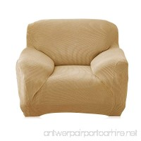 Sofa Cover Durable Slipcovers Polyester Spandex Couch Slipcover Luxury Textured Reversible,Furniture Protector with adjustable Straps,Slipcovers for dogs cats and kids (Beige Chair) - B07C5KCWC1