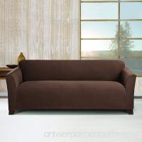 Sure Fit Stretch Morgan 1-Piece  - Sofa Slipcover  - Chocolate (SF45371) - B017LQ203A