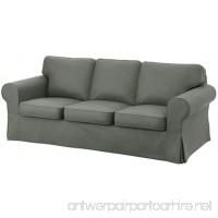 The Dark Gray Dense Cotton Ektorp 3 Seat Sofa Cover Replacement Is Custom Made for IKea Ektorp Sofa Cover  An Ektorp Sofa Slipcover Replacement - B01KMMOEZC