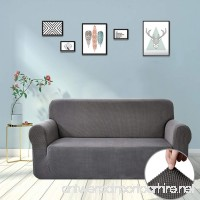 TIANSHU Jacquard Couch Cover  1-Piece Couch Cover for Sofa  Slipcover for Living Room  Soft/Durable/Stay in Place  Sofa Cover Fit with 72'' - 81'' (Sofa  Gray) - B07CK5C6VY