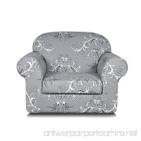 TIKAMI 2-Piece Spandex Printed Fit Stretch Sofa Slipcovers (Chair  Gray) - B06X1G781K