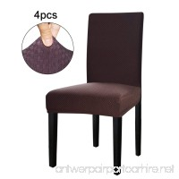 Easy-Going Stretch Dining Room Chair Slipcovers parsons chair Slipcovers Protector soft Removable Washable (4PCS  Square Chocolate) - B07C8N6TPH