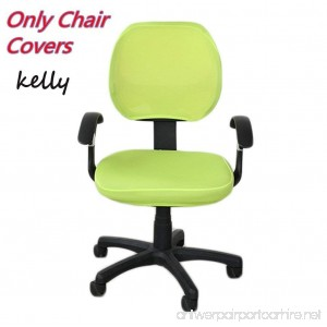 G-Champsolar Pure Color Office Computer Dining Rotating Chair Covers One Piece Universal Lift Chair Slipcovers Pads Covers (Kelly) - B07DJ65YJR