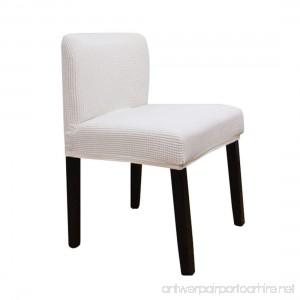 G-Champsolar Stretch Chair Cover Slipcovers for Short Back Chair Bar Stool Chair (White) - B07DJ83CZT