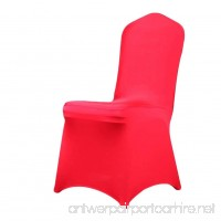 Joyful Store Polyester Spandex Chair Covers Universal Stretch Folding Chair Slipcover for Wedding Banquet Party Dining (1pc  Red) - B073QKC3JP