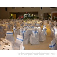 "Joyfull ""Linen-look"" Banquet Chair Cover with Bows  4 Pack Disposable - B004O5JS96"