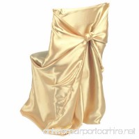 LinenTablecloth Satin Universal Chair Cover Gold - B008TLWOVA