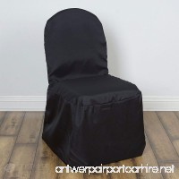 Sparkles Make It Special 20 pc Polyester Banquet Chair Covers - Wedding Reception Banquet Party Restaurant Universal Fitted - Black - B076WN7SYF