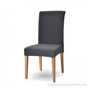 Subrtex Dyed Jacquard Stretch Dining Room Chair Slipcovers (4 Gray Checks) - B011B5GF92