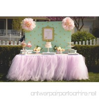 Tulle Tutu Table Chair Skirt for Wedding Birthday Party Baby shower Decoration (Pink  Table Skirt) - B079CFTYK6