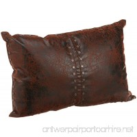 Croscill Plateau Boudoir Pillow 20-inch by 14-inch Brown - B005JXGI9U