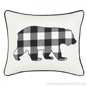 Eddie Bauer Cabin Plaid Bear Throw Pillow 16 x 20 Black - B07645HLHX