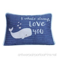 Lambs & Ivy Oceania Decorative Throw Pillow - Blue Ocean Whale - B07BNXNWVR
